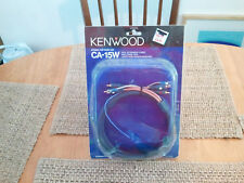 Vintage NOS Kenwood CA-15W car stereo RCA CABLE w/remote wire. RARE! OLD SCHOOL