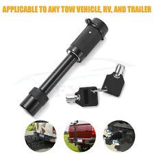 "Heavy Duty 5/8"" Trailer Hitch Pin Lock 2 Keys for Class III/ IV/V Hitch Receiver"