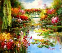 Claude Monet Water Lily Pond Repro 2, Quality Hand Painted Oil Painting, 20x24in