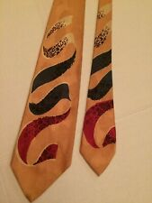 1940's Cravats Superba French Ribbons by Raxon Vintage Necktie Swing Tie w Tag