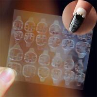 Transparent Gluant Nail Tabs Autocollants Autocollants pour Faux Ongles