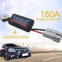 150A Digital LCD Volt Amp Watt Meter Power Analyser Solar Caravan+ Anderson Plug