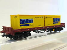 Electrotren H0 006745 Flachwagen Deutsche Post Postbank DB OVP (Q6403)