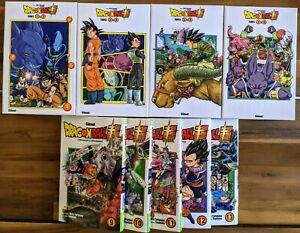 Lot Mangas Dragon Ball Super - 4 Coffrets N°1 à N°8 + N°9 à N°13