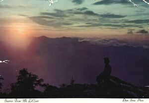 Vintage Postcard 1930's Sunrise from Mount LeConte Great Smokey Mountains Park