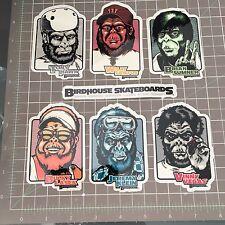 2002 Vintage Birdhouse Planet of the Ape ParodyTony Hawk Skateboard sticker Set