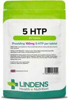 5-HTP 100mg 60 Tablets Anxiety Appetite Depression Insomnia Serotonin Lindens UK