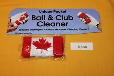 Green Sleeve Golf Ball and Iron Club Cleaner (Canada) B440 New