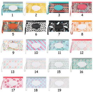1pc EVA Baby Wet Wipe Pouch Wipes Holder Case Reusable Refillable Wet Wipe Bag
