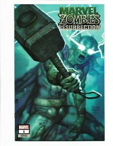 MARVEL ZOMBIES RESURRECTION #1 RYAN BROWN Exclusive VARIANT Marvel Zombie Thor