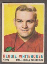 1959 TOPPS CFL REG WHITEHOUSE SASKATCHEWAN ROUGHRIDERS #82 (NDG MAPLE LEAFS JR)