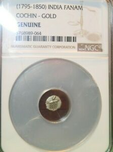 (1795-1850) Indian Fanam Cochin-Gold NGC Genuine Gold Coin