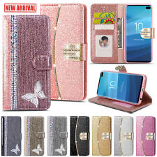 Glitter Bling Leather Wallet Flip Case For Samsung A10 A20e A40 A50 S20 S10 S9
