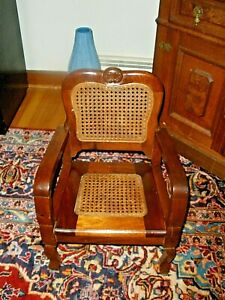 Antique Mahogany Child's Chair Wood