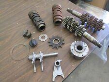 1978 Suzuki RM125 Tranmission Lay Shaft Shift Drum Forks Flywheel Etc Parts Lot