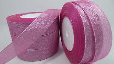 "NEW 5yards 1 ""25mm glitter ribbons Bling for DIY Wreaths decorated and Bows AA"