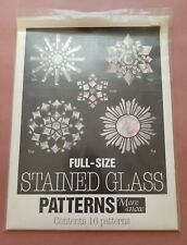 More Snow: Full-Size Stained Glass Patterns by Sunlight Studio