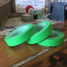 WASHI TAPE THIN SOLID COLOUR GREEN 10MM WIDE X 10MT ROLL SCRAP PLAN CRAFT