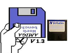 """Workbench 1.3 :  floppy disc 3,5"""" Commodore Amiga backup game disk (READ)"""