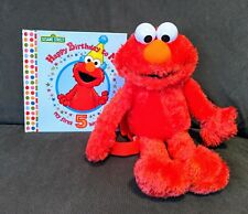 Sesame Street Birthday Book, First 5 Birthday's RARE! With Elmo Plush Backpack