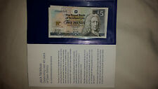 Two consecutive Mint Jack Nicklaus £5 notes (plus 1 x wallet & envelope)