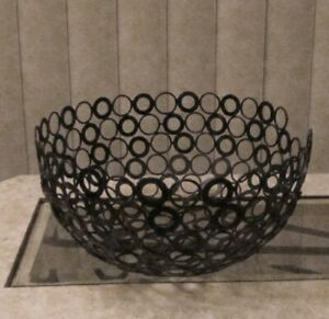 Handmade Original Reclaimed Recycled Metal Washer Art Display Bowl by Tammy Roy