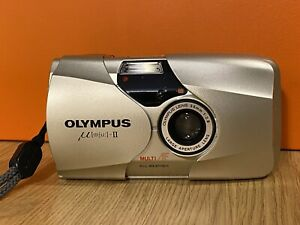 Olympus mju ii 35mm Compact Camera with case and new battery