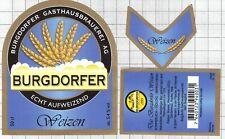 SWITZERLAND Burgdorfer Gasthaus Brauerei WEIZEN 50cl beer label C2261 052