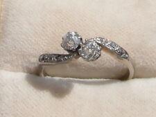 Q126 Ladies 18ct white gold old rose cut 0.60 Diamond engagement ring size P