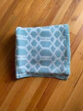 Berkshire Blanket Garden Trellis Soft Acrylic Throw Blanket | Baby Blue