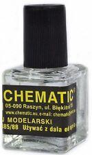 Chematic Glue with brush (pegamento liquido para modelismo con brocha) 10ML