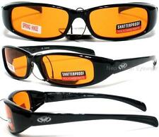 Global Vision New Attitude Orange Lenses Sunglasses Motorcycle Spring Temples