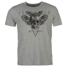 Polyester Skull Regular Size T-Shirts for Men