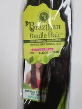 "Janet Collection Brazilian Straight 100% NATURAL HUMAN HAIR / 2 pack 18"" and 20"""