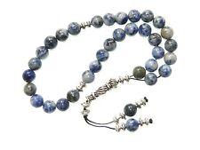 0408 - Prayer Beads Worry Beads Tasbih 8mm Sodalite Gemstone Handmade Unique