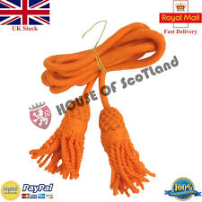 More details for bb bugle wool cord orange color/cadet bugle cords/british army bugles wool cords