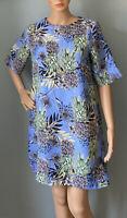 River Island Womens floral Lined Short shift dress UK Size 10 Blue Mix  BNWT