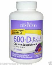 21st Century Calcium 600 + D3 plus Minerals 75ct Chewables