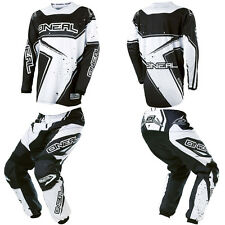 O'Neal Element Black/White Motocross Off-Road Dirtbike Gear Jersey Pants Combo