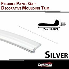 12FT PVC Car Panel Edge Gap Trim Chrome Molding Strip Interior Decoration Silver