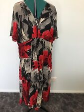 BE ME dress black red and grey coloured dress size 22 Womens