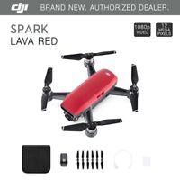 DJI Spark Lava Red Quadcopter Drone - 12MP 1080p Video