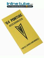 64 Pontiac (all Models) GTO Lemans Tri Power Accessorizer Option book Booklet