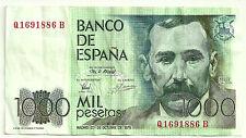 BILLETE DE 1000 PESETAS DE 1979 (BC+) BENITO PEREZ GALDOS (SERIE Q)
