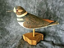 Vintage 30 yr Shorebird Collection Hand Carved & Painted Signed WEK 409A