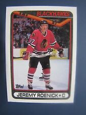 Jeremy Roenick 1990-91 Topps Rookie Card # 7. Chicago Blackhawks