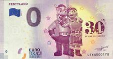 BILLET 0 ZERO EURO SOUVENIR TOURISTIQUE FESTILAND 30 ANS 2019-3