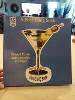 """A nice long soak shaped puzzle 450 pieces martini - toys & games 34""""x24"""" schmid"""