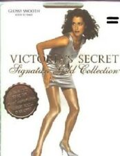 2 Victoria's Secret Signature Gold Cream SMALL Sheer Glossy Smooth Pantyhose