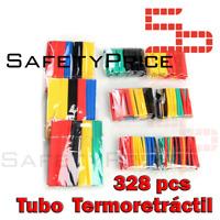 328Pcs Surtido Tubo Termoretractil de Colores Aislante para cables 8 medidas